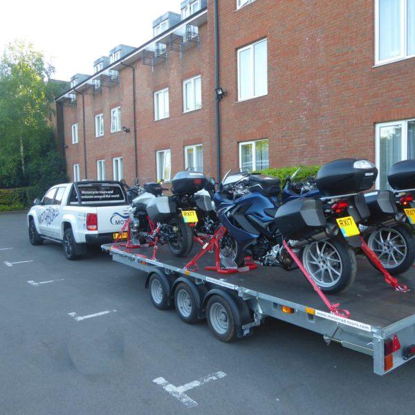 Bikegrab motorcycle Wheel chock & paddock stand