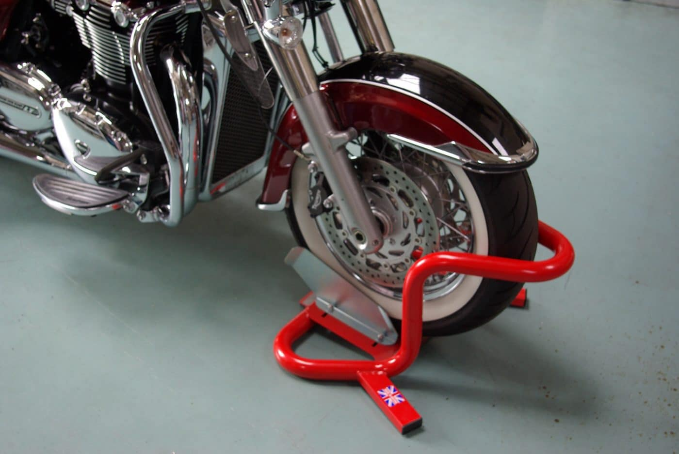 Bikegrab Wheel Chock On Bike Motorcycle Lifts Harley