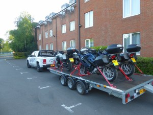 Transporting Motorcycles with BikeGrab wheel chocks