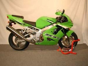 Kawasaki in wheel chock