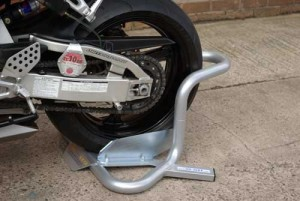 Rear wheel stand
