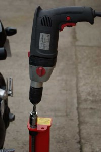 Power drill for lift