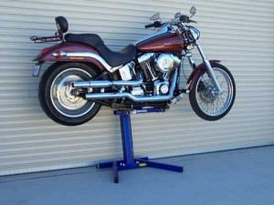 Harley Davidson lifted with Big Blue in Australia